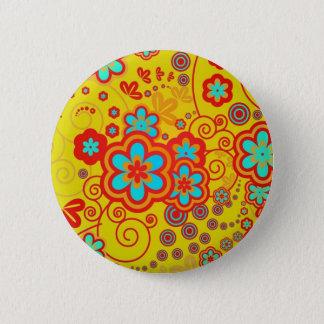 Badge Jardin lunatique jaune