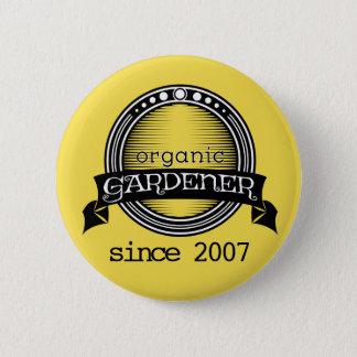 Badge Jardinier organique fier