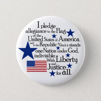 Badge Je mets en gage l'allégeance au drapeau du uni