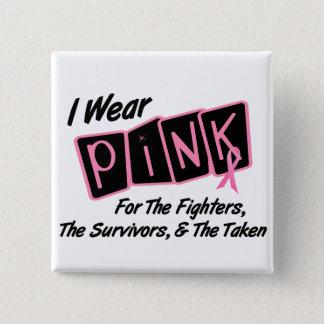 Badge Je porte le ruban rose pour le cancer du sein de