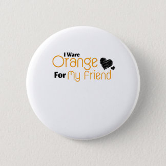 Badge Je porte l'orange pour ma conscience de ruban