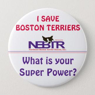 Badge JE SAUVE le bouton de TERRIERS de BOSTON