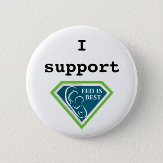 Badge Je soutiens Fed est le meilleur bouton