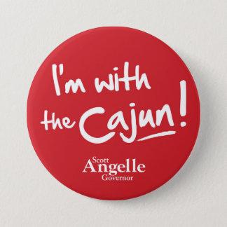 """Badge """"Je suis avec le bouton du Cajun"""""""