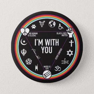 Badge Je suis avec vous vitesse d'activiste. Montant à