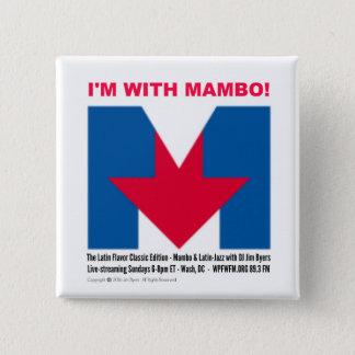 """Badge """"Je suis bouton avec de mambo"""" carré"""