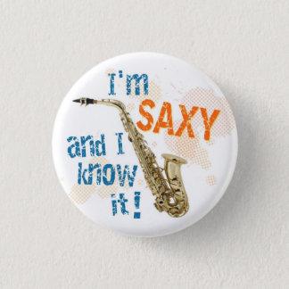 Badge Je suis bouton de Saxy