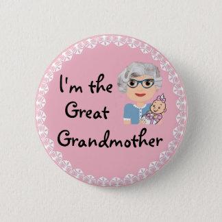 Badge Je suis l'arrière grand-mère