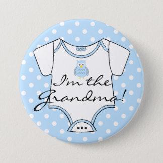 Badge Je suis le pois bleu de bleu de hibou de