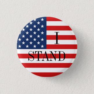 """Badge """"JE TIENS"""" le drapeau américain patriotique"""