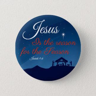 Badge Jésus est la raison du bouton de saison