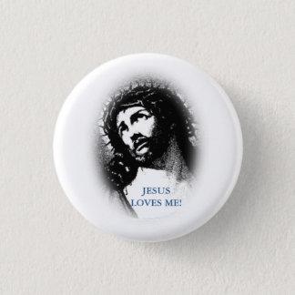 Badge Jésus m'aime bouton