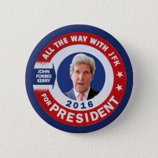 Badge John Kerry pour le président 2016