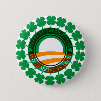 Badge Jour de la Saint Patrick heureux d'Obama