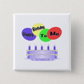 Badge Joyeux anniversaire à moi gâteau et ballons