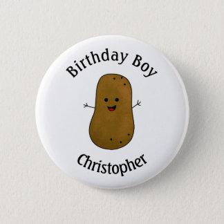 Badge Joyeux anniversaire de pomme de terre personnalisé