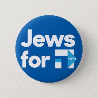 Badge Juifs pour le bouton bleu hébreu de H Hillary