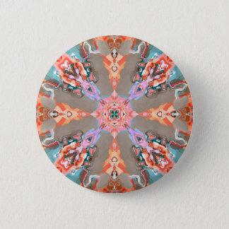 Badge Kaléidoscope abstrait de texture