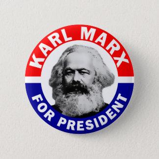 Badge Karl Marx pour le président