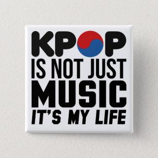 Badge Kpop est mes graphiques de slogan de musique de la