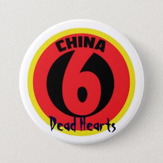 Badge La Chine six boutons - romans morts de coeurs