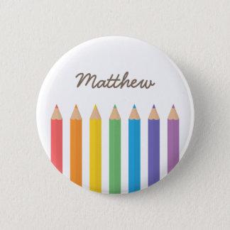 Badge La coloration colorée d'arc-en-ciel crayonne des