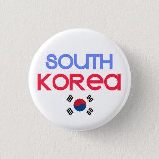 Badge La Corée du Sud et l'a (drapeau sud-coréen)