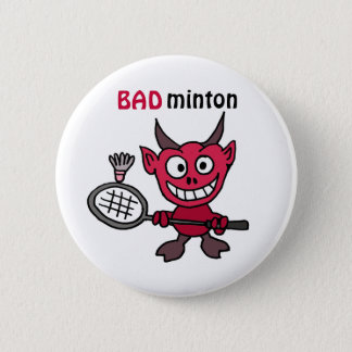 Badge La CZ diable jouant la bande dessinée de badminton