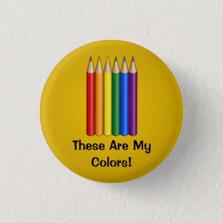 Badge La fierté d'arc-en-ciel crayonne le bouton