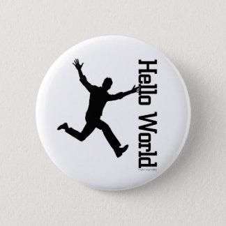 Badge La figure humaine volante profilent graphique