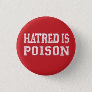 Badge La haine est petit bouton rouge de piquer-police