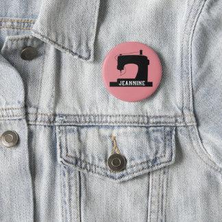 Badge La machine à coudre ouvre l'icône/votre texte
