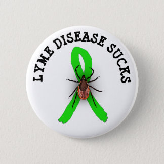 Badge La maladie de Lyme suce le bouton de ruban de