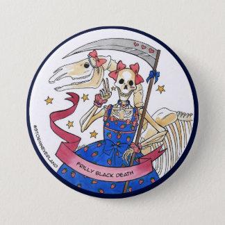 Badge La mort noire froncée