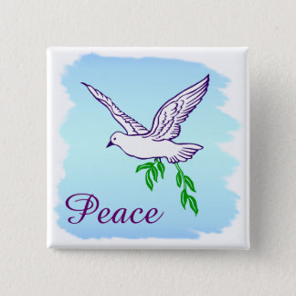 Badge La paix faite sur commande a plongé avec le bouton