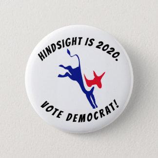 Badge La rétrospection est 2020, bouton de Démocrate de
