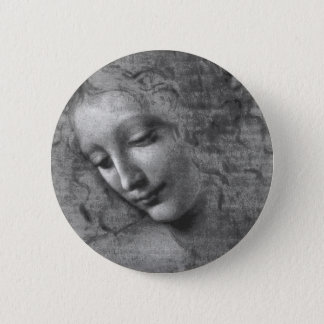 Badge La Scapigliata par Leonardo da Vinci