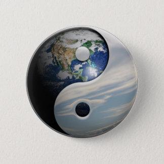 Badge La terre et ciel Yin Yang