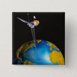 Badge La terre orbitale satellite 6