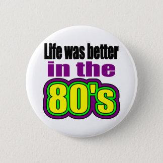 Badge La vie était meilleure pendant les années 80