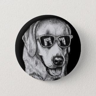 Badge Labrador retriever aux nuances avec la réflexion