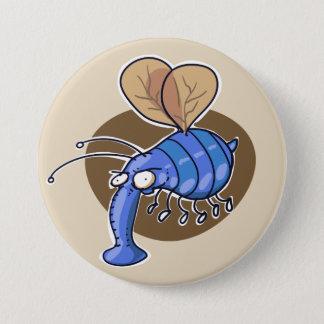 Badge laid gaffez la bande dessinée drôle d'abeille