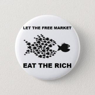 Badge Laissez le marché libre manger les riches