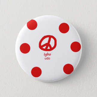 Badge Langue d'Igbo et conception de symbole de paix