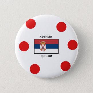 Badge Langue serbe et conception de drapeau de la Serbie