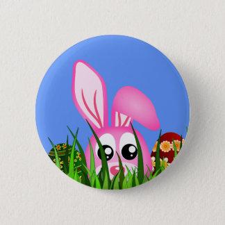 Badge Lapin et oeufs de Pâques mignons dans l'insigne