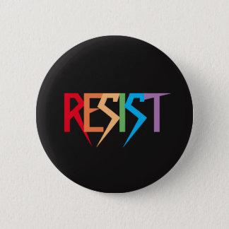 Badge L'arc-en-ciel coloré résistent au bouton