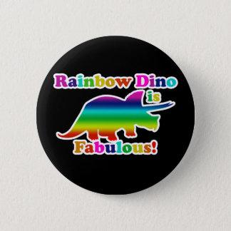 Badge L'arc-en-ciel gai Dino est fabuleux