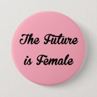 Badge L'avenir est bouton femelle