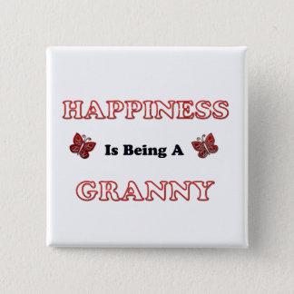 Badge Le bonheur est mamie